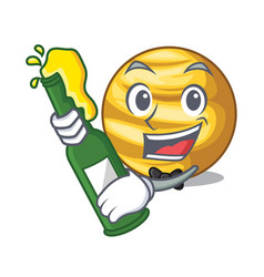 With beer planet venus isolated on mascot vector