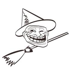 cartoon meme Halloween face Isolated eps vector image vector image
