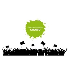 Cheering or Protesting Crowd vector image vector image