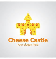 cheese castle vector image