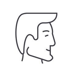 human head businessman avatar line icon vector image vector image