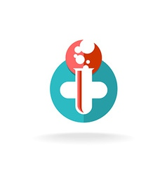 Medical research logo vector image