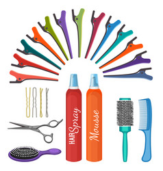 set of hairdressing tools vector image vector image