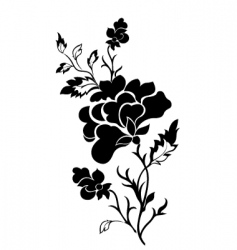 vertical flower pattern rose tattoo vector image