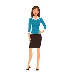 Cartoon business Woman Character isolated on white vector image