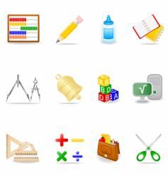 education icon set vector image