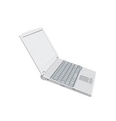 Laptop computer vector image