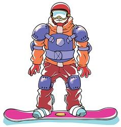 Snowboarder a Body Armor vector image