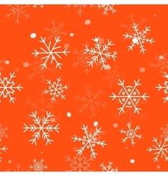 Winter Seamless Snowflake Pattern EPS 10 vector image