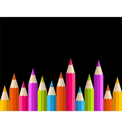 Back to school rainbow pencil banner pattern vector image