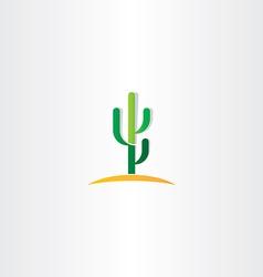 cactus in desert icon vector image vector image