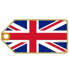 Vintage label with the flag of United Kingdom vector image vector image