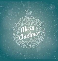 christmas greeting card in a christmas ball vector image vector image