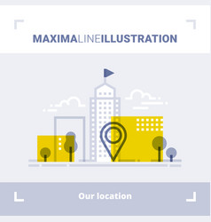 concept of company location and office address vector image vector image