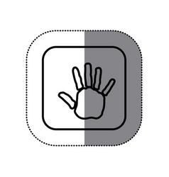 figure symbol hand icon vector image vector image