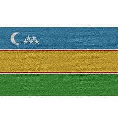 Flags Karakalpakstan on denim texture vector image vector image