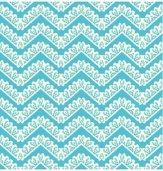 Lace seamless pattern on blue background vector image