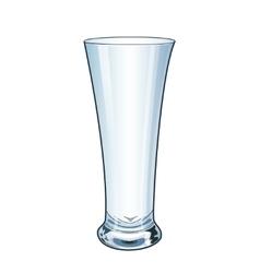 Modern empty drinking glass vector image