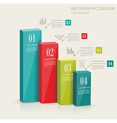 Modern infographics set Diagram and Time Line vector image vector image