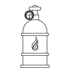 Natural gas tank icon vector