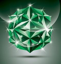Party 3D green shiny disco ball fractal dazzling vector image vector image