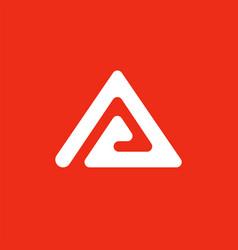 triangle creative logo abstract logo a vector image vector image