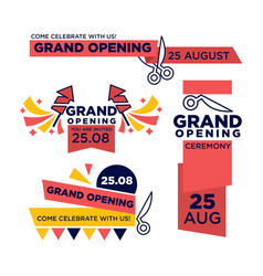 25 august grand opening ceremony bright vector