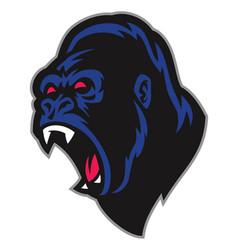Angry gorilla mascot vector