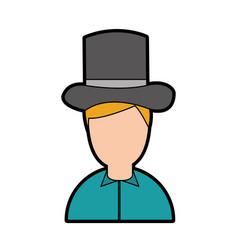 antique gentleman avatar character vector image