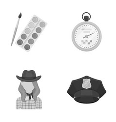 Art rodeo and other monochrome icon in cartoon vector