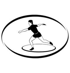 Athletics discus throwing vector