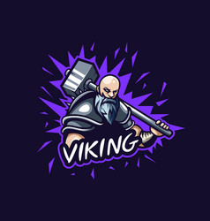 Awesome viking logo for gaming squad vector