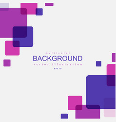 background with rounded colorful squares vector image