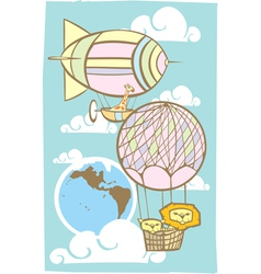 Balloon travel vector image