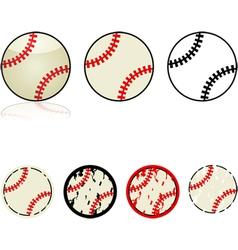 Baseballs vector
