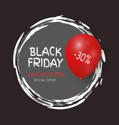 Black friday up to 30 percent off special offer vector