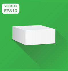 blank white carton 3d box icon business concept vector image