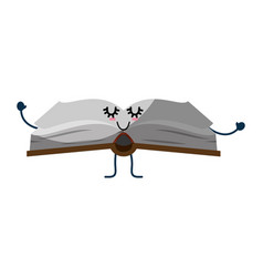 Book cute cartoon vector
