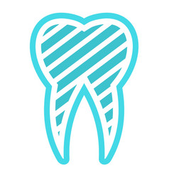 brushed logo tooth icon flat style vector image
