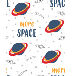 cartoon pattern with space elements vector image