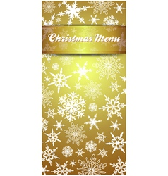 Christmas Snowflake Gold Menu vector