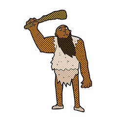 Comic cartoon neanderthal vector