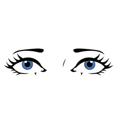 comic styled eyes vector image