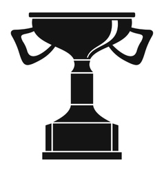 Cup for victory icon simple style vector image