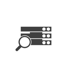 database server search icon element of vector image