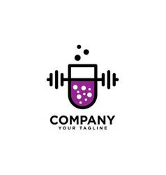 Fitness lab logo design template vector