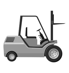 Forklift icon gray monochrome style vector