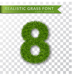 Grass number eight green number 8 isolated white vector