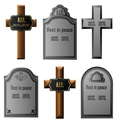 Gravestone set vector