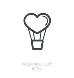 heart air balloon thin line icon vector image